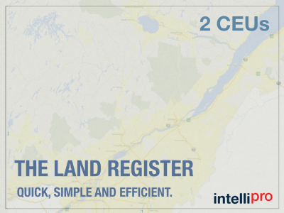 The Land Register – Quick, Simple and Efficient (2 CEU)